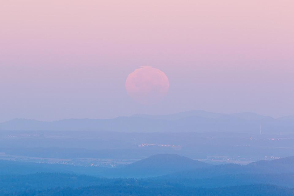 Pink Wallpaper Hd 무료 사진 문 경치 새벽 하늘 기분 Moonset 분위기 Pixabay의 무료 이미지