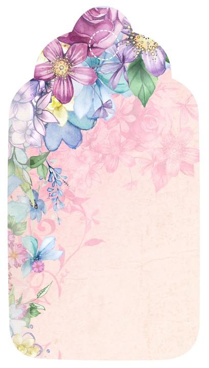 Vertical Wallpaper Hd Free Illustration Tag Flower Romantic Scrapbook Free