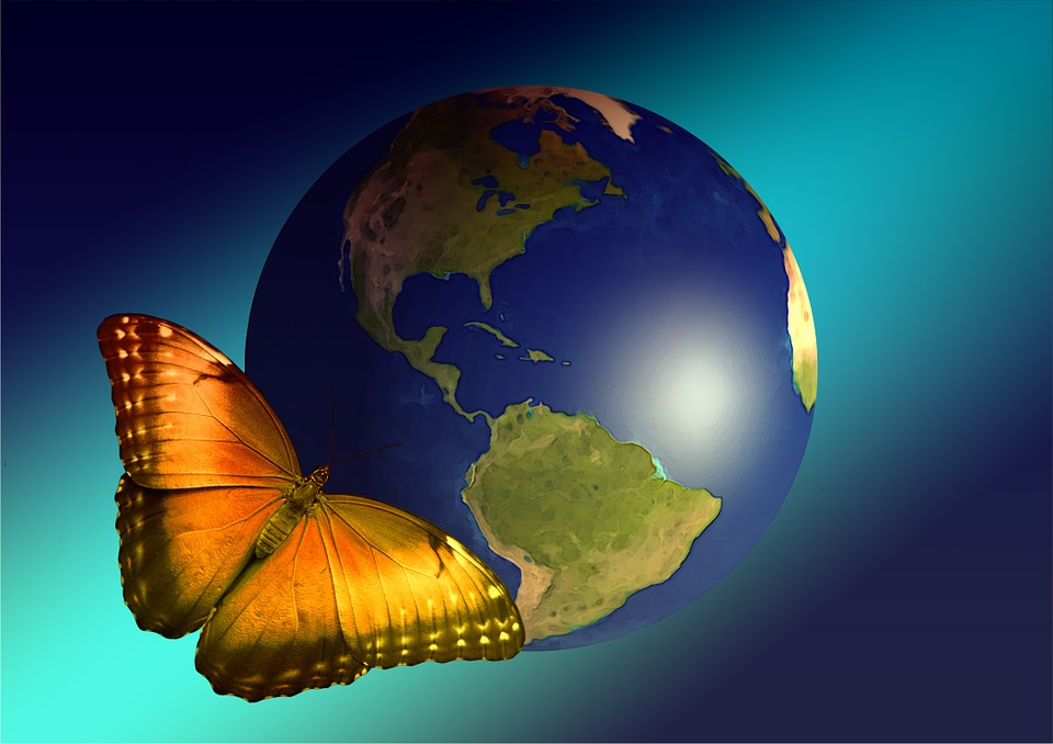 Facebook Girl Wallpaper Free Download Earth Globe Butterfly 183 Free Image On Pixabay
