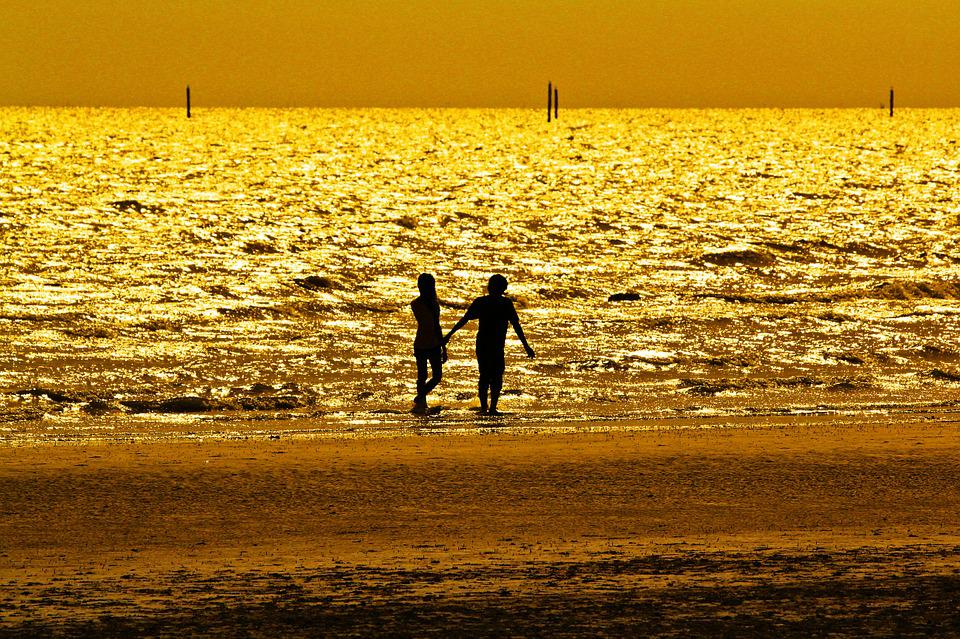 Free photo Gold Sea Black Shadow  Free Image on