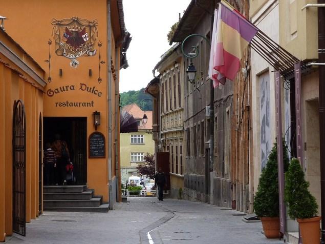 Улица города Брашова, Трансильвания, Румыния