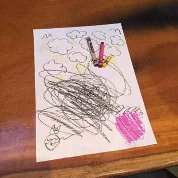 Enfant, Gribouillis, Dessin, Crayons De Couleur, Doodle