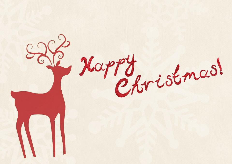 Christmas Reindeer Happy Free Image On Pixabay