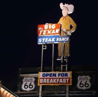 Grande, Texano, Route 66, Bistecca