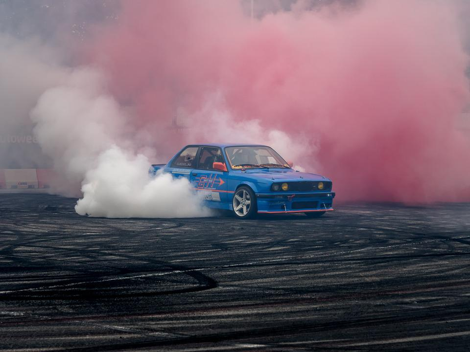 Motorcycle And Car Drift Wallpaper Free Photo Bmw Fast Speed Drift Car Tire Free