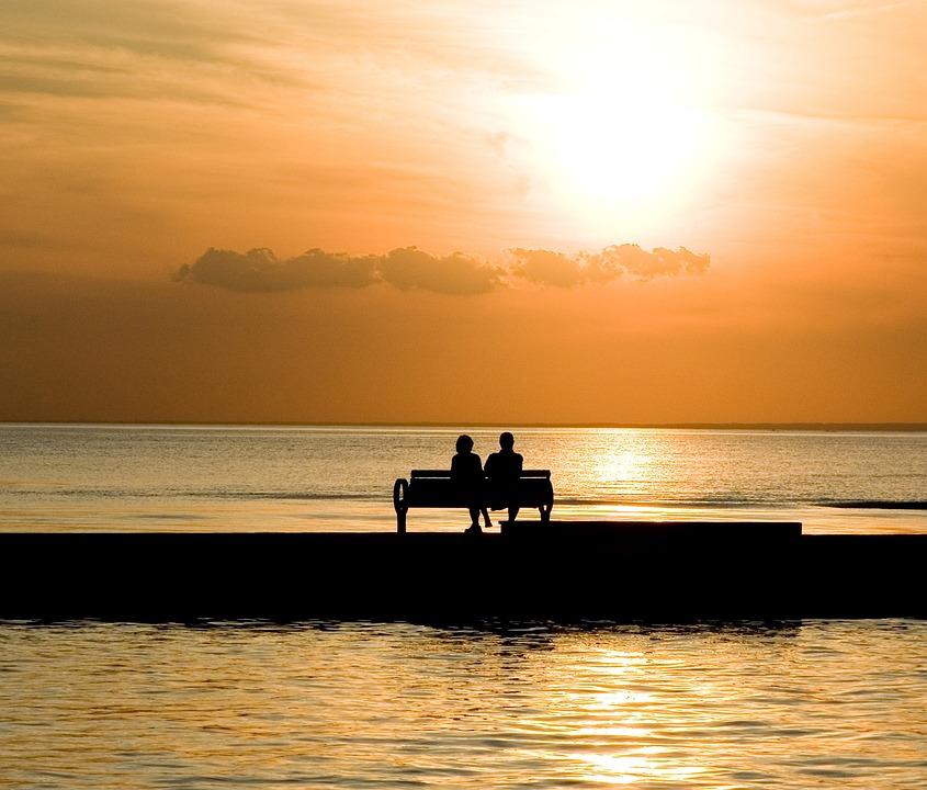 Foto gratis Panchina Coppia Romantico Amore  Immagine gratis su Pixabay  1052066