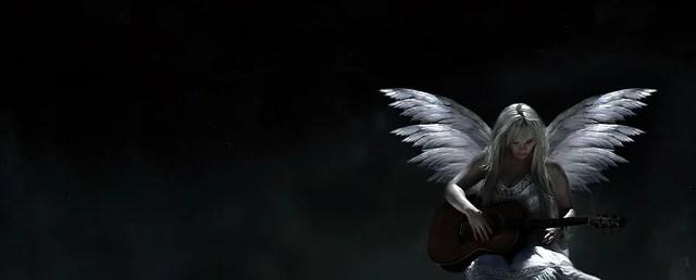 Beautiful Crying Girl Wallpapers Free Illustration Angel Guitar Music Dark White