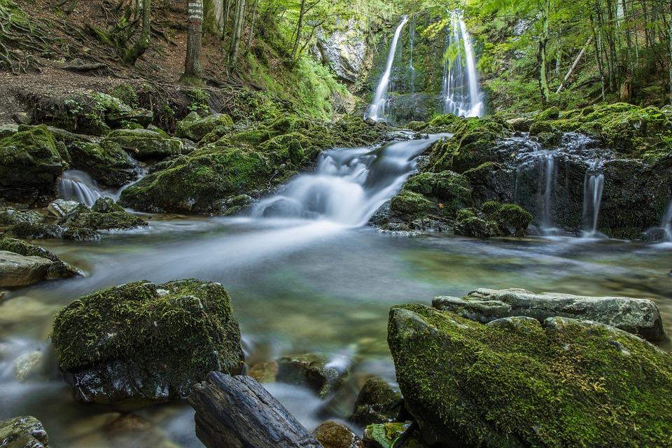 Rain Fall Hd Wallpaper Download Waterfall Nature Landscape 183 Free Photo On Pixabay
