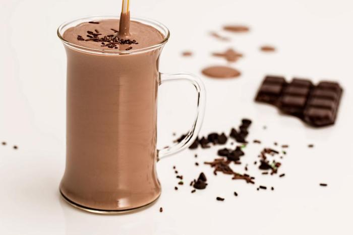 Batido De Chocolate, Batido De Leche, Refrescante