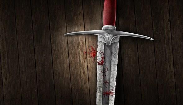Schwert, Blut, Hintergrund