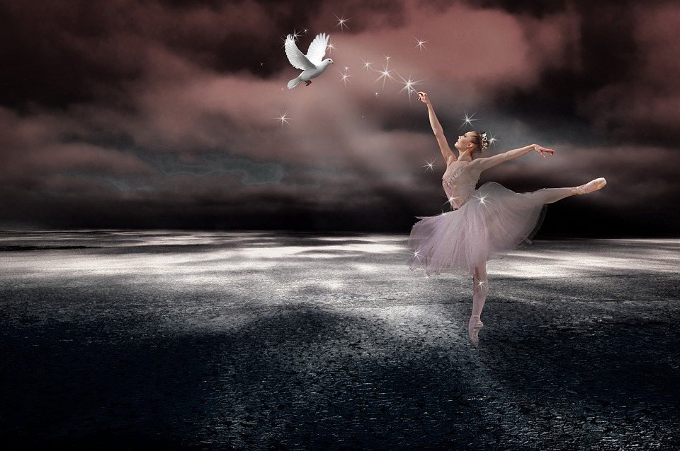 Free Illustration Christmas Dove Ballet Composite