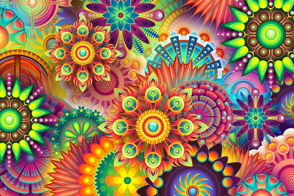 psychedelic colorful colors free