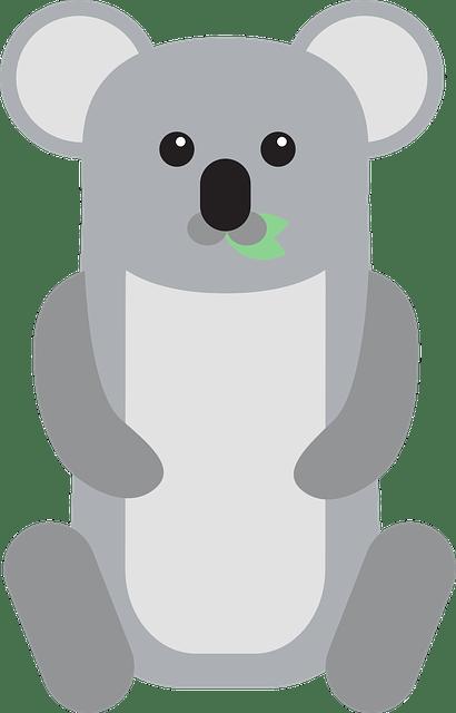 Cute Newborn Baby Girl Wallpaper Free Vector Graphic Baby Koala Sitting Leaves Free