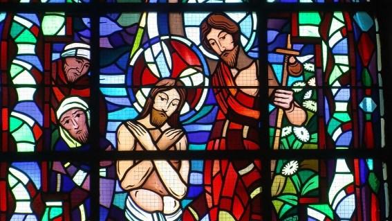 ステンドグラス, フランス, イエス, 教会, カトリック, 洗礼