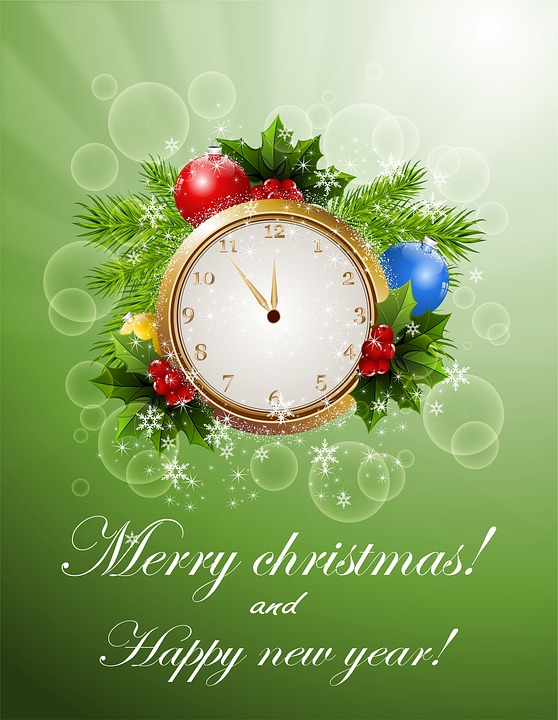 Free Illustration New Year Christmas Card Free Image