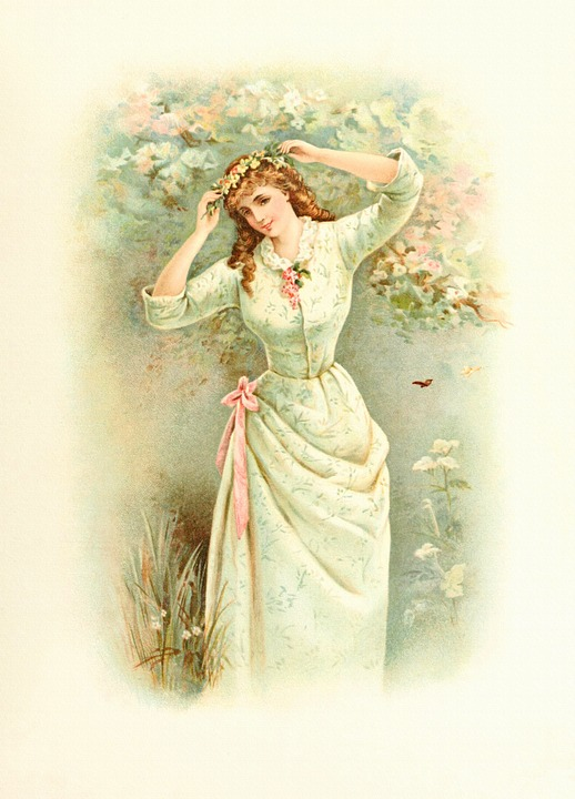 Free Illustration Lady Spring Vintage Woman Free