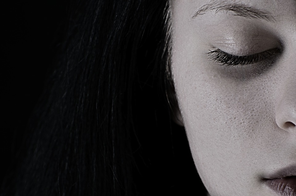 Girl, Face, Closed Eyes, Half Face, Depression, Sadness