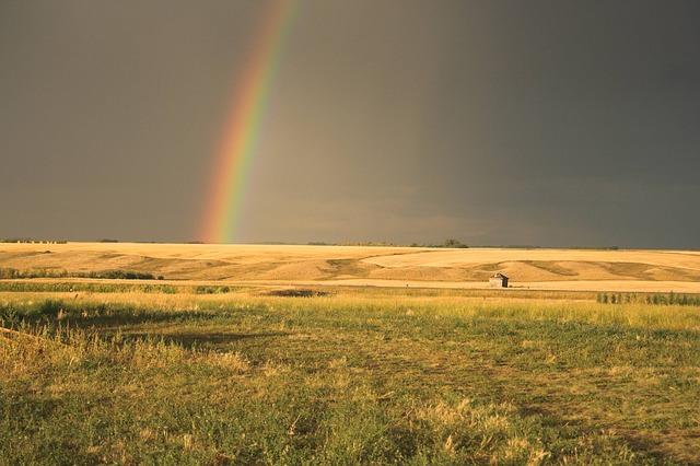 3d Cloud Wallpaper Rainbow Prairie Rain 183 Free Photo On Pixabay