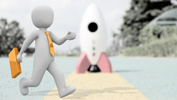 Entrepreneur Start Rocket Start Up Career