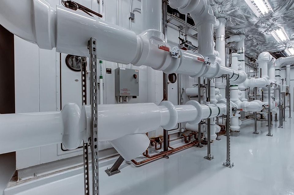 配管, 業界, パイプ, パイプライン, ホワイト, 近代的な, 技術, 地下, 青技術, グレーの技術