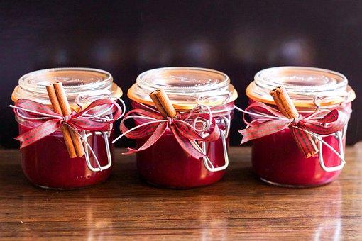 Jam, Jar, Christmas, Homemade, Cranberry