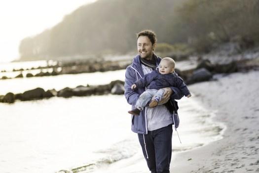 Papà, Ragazzo, Beach, A Piedi, Amore, Famiglia