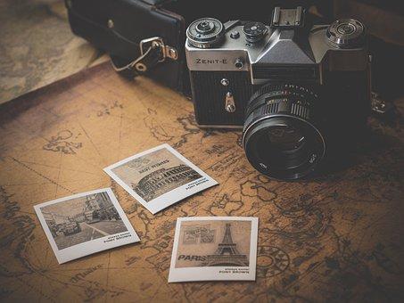 カメラ, 写真, お土産, 写真撮影, 地図, 旅行, 休暇, トラベル, 旅