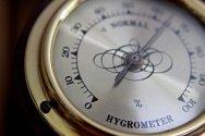 Old, Hygrometer, Gold, Steampunk, Retro