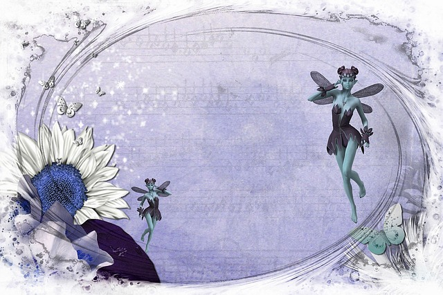 Free illustration fairy card blue tale cartoon free, winter coloring pages