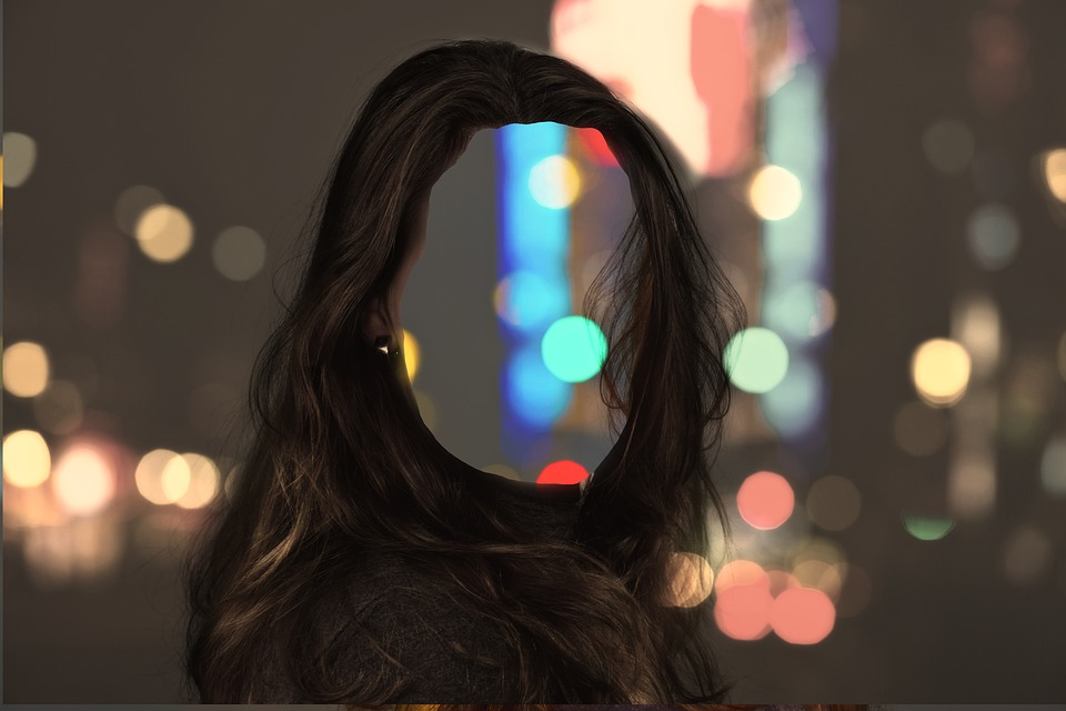 Głowy, Kobieta, Przejrzysty, Puste, Hollow, Bokeh