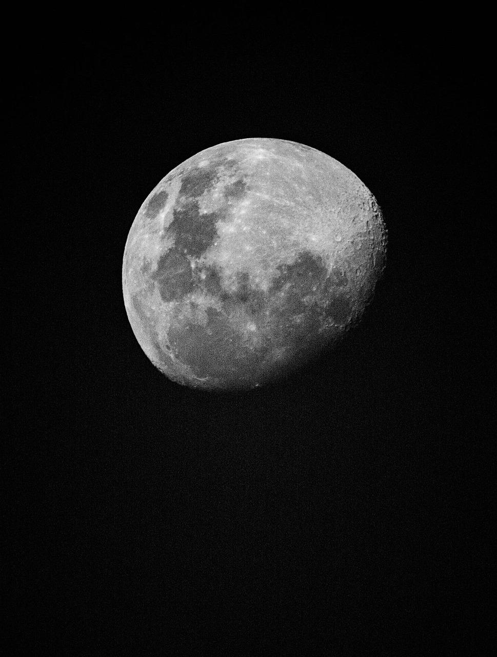 Gambar Bulan Hitam Putih : gambar, bulan, hitam, putih, Bulan, Hitam, Putih, Gratis, Pixabay