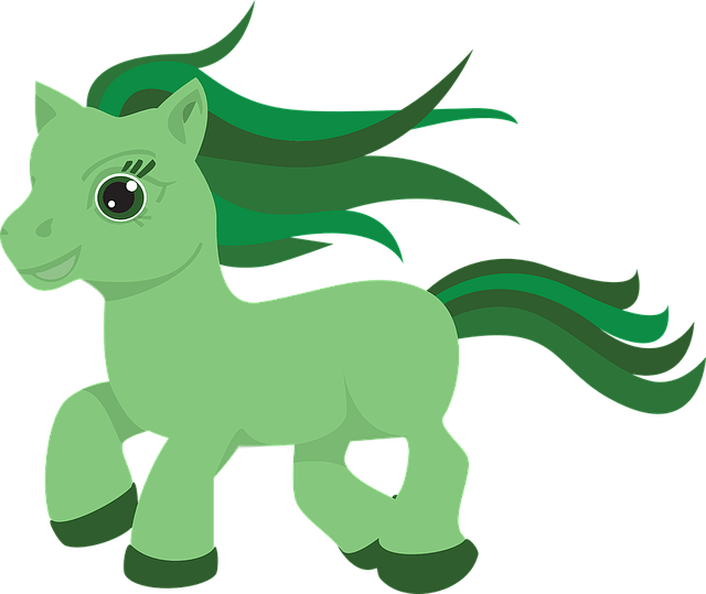 Free vector graphic Pony Horse Green Cute Toy  Free