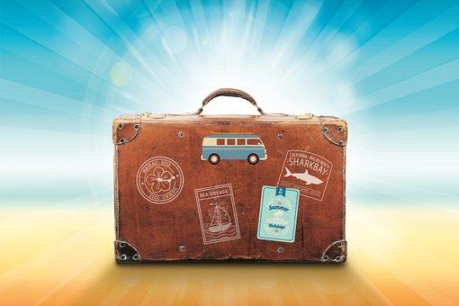 Koffer, Urlaub, Reise, Sommer, Meer