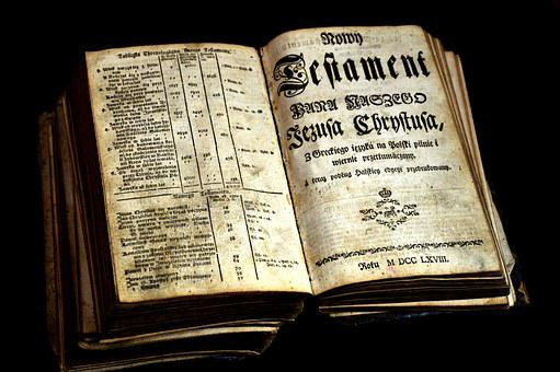 Paper, Old Book, Stry Testament