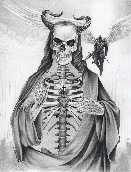 Realistic Devil Drawing : realistic, devil, drawing, Devil, Demon, Image, Pixabay