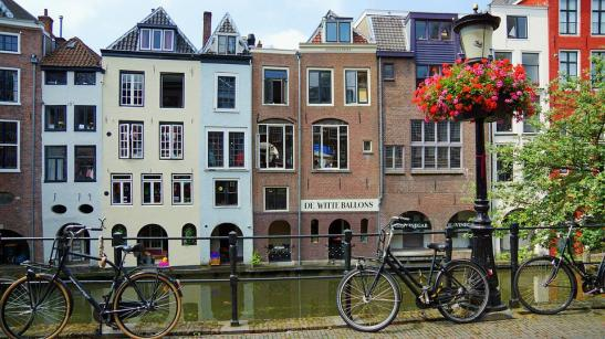 Utrecht, Holland, Channel, House, Cycle
