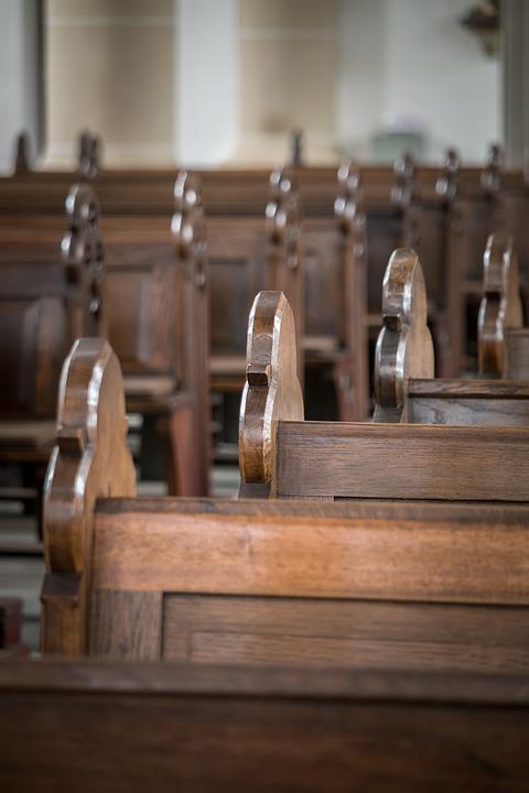 church pews bank free