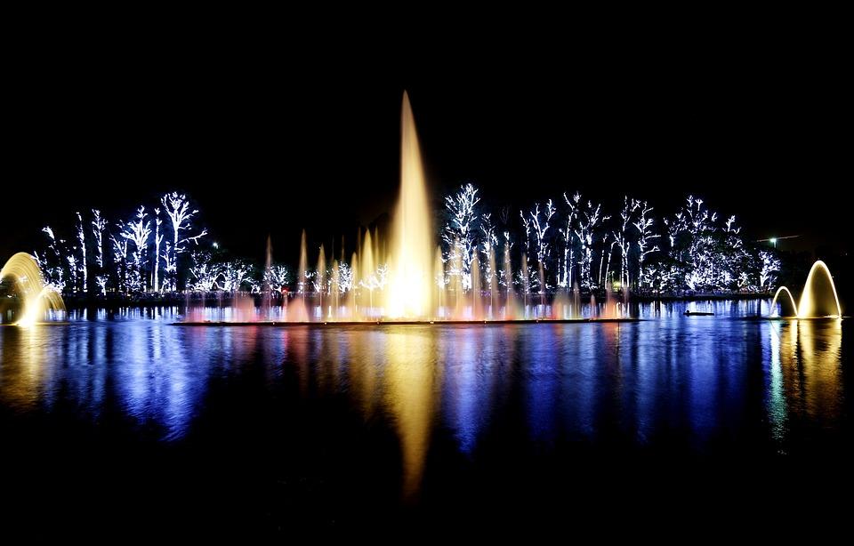 Parque Ibirapuera Luzes Noite Show Foto Gratuita No Pixabay