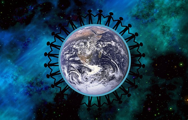 Free Illustration Earth Peace Together Symbol Free