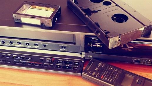 Vcr ビデオデッキ, ビデオ, テープ, 映画, 古い, レトロ, カセット, カメラ, ビンテージ