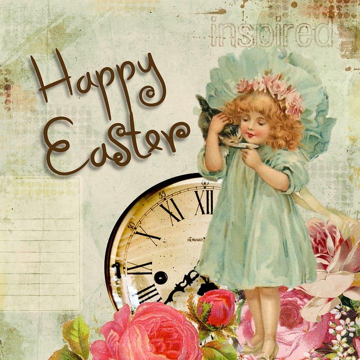Easter Greeting Card Vintage Free Image On Pixabay