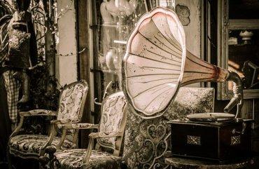 Flea Market, Gramophone, Music, Speakers