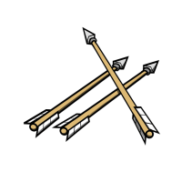 Kostenlose Illustration: Pfeile, Kampf, Eisen, Holz