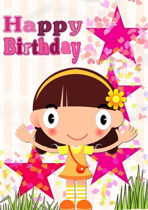Free Illustration Happy Birthday Card Greeting Free