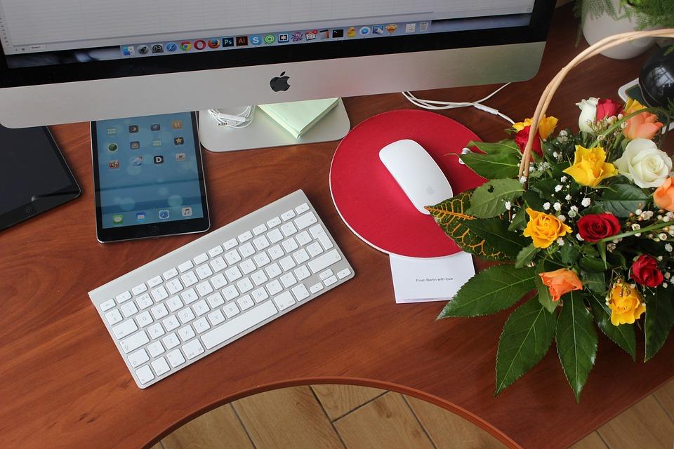 Flowers Desk Ipad Free Photo On Pixabay