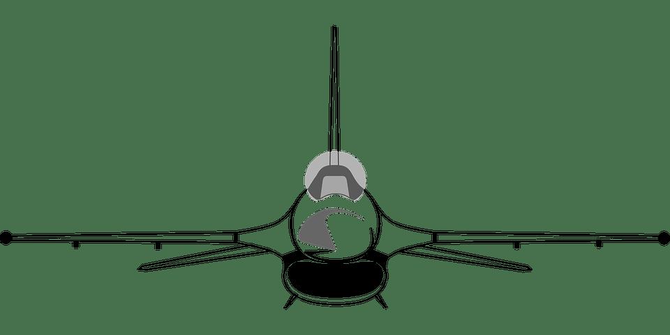 F 16 Black And White