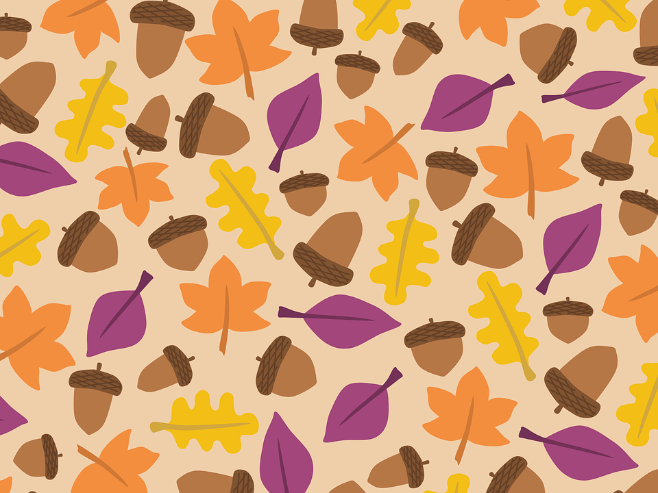 Cute Rustic Fall Wallpapers For Laptop Free Vector Graphic Acorn Autumn Background Boxes