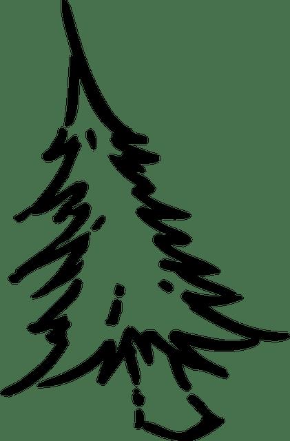 Gratis vectorafbeelding Kerstboom Tekening Eenvoudige  Gratis afbeelding op Pixabay  1293237