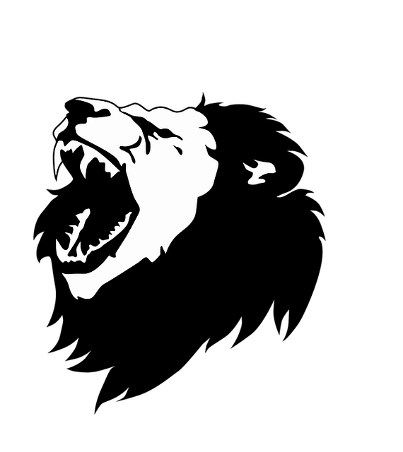 Black And White Lion Head  Free vector graphic on Pixabay