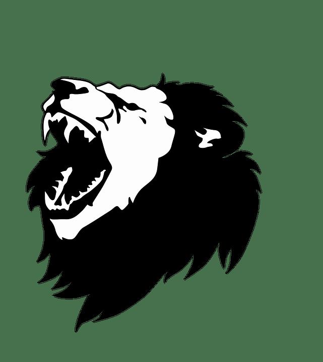 Image vectorielle gratuite Noir Et Blanc Lion Tte De